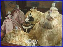 100+ Vintage German Half Dolls Pincushion Dolls Spectacular Collection