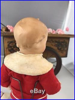 10 Antique Bisque Head German Doll Gebruder Heubach Winker Googly