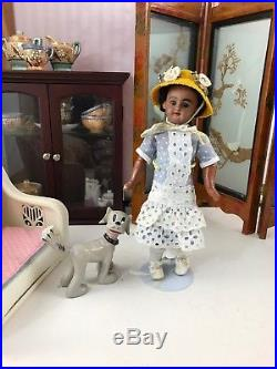 10 Rare Original Antique Black Bisque Simon & Halbig Doll DEP 1009 Gorgeous