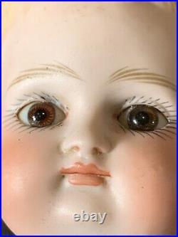 11.5 Adorable Pouty Closed Mouth Antique Bisque Shoulder Head Doll