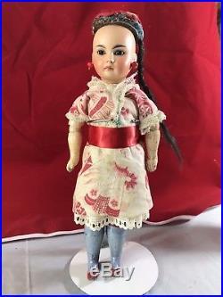11 Antique Bisque Head Asian German Doll Bahr & Proschild 220 Wooden Body