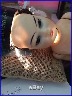 12 Antique German Oriental Bisque Head Doll Composition Flapper Body 4/0