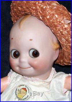 12 Rare Antique German Bisque Doll Rose O'Neill Glass Eye Kewpie Kestner