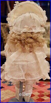 14 Antique German Bisque Bahr Proschild 678 Toddler Doll & Mohair Wig
