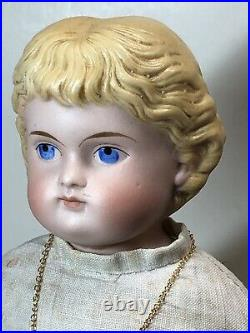 14 Antique Porcelain German Made China Head Kling Blonde Parian Painted Face #A