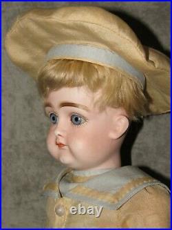 14 Kestner Closed Mouth Pouty DollExcelsior BodyBlue EyesRepaired Eye Chip