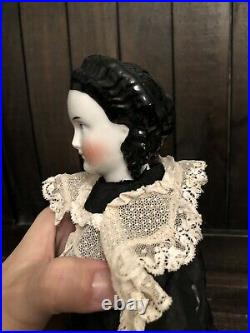 17 Very Rare Fancy Hairstyle Conta Boehme 1870 Antique German China Doll