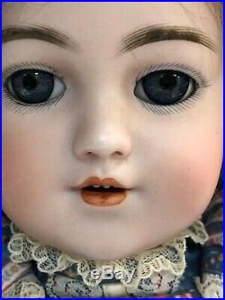 18 Antique German Simon & Halbig Santa 1249 Blue Sleep Eyes Mohair Wig #SC3