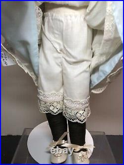 18 Antique Kestner Bisque Doll Germany #166 Brown Brunette Leather Kid Body SC5