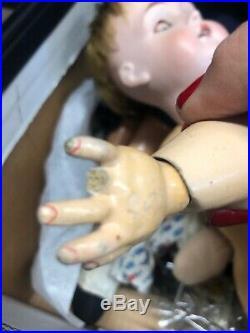 18 Kestner Antique Bisque Doll 167 Orig Body