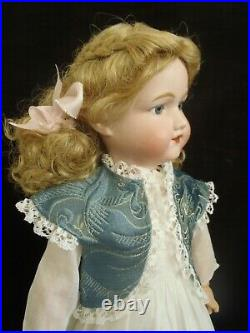 18 tall c1920 Morimura Dolly face bisque head doll in Vintage dress