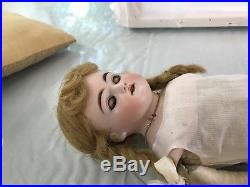 19 Antique German Bisque Turned Shoulder Head Doll JD Kestner H