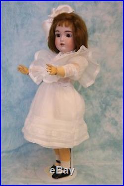 20 Antique 171 Kestner doll in antique white Dress, slip, Pantaloons &, Sox