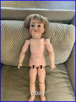 20 Inch K&R Simon Halbig 117n bisque head doll - 1910's
