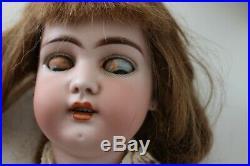 20 blue eyed SIMON HALBIG mold 1079 GERMAN BISQUE head DOLL dep 9 ANTIQUE