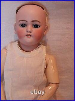 21 Antique Doll Simon Halbig Blue Eyes Blond Mohair Wig