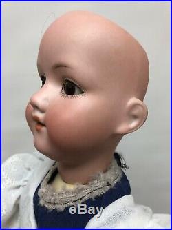 21 Antique German Bisque Doll AM 390 Armand Marseille Brunette New Body #SC2