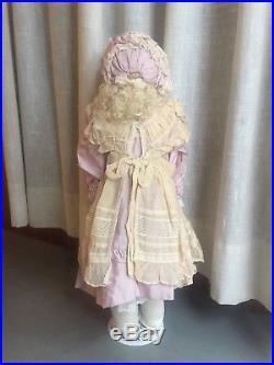 21 Inch Peter Scherf German Antique Doll Madeline Leather Body Bisque Head