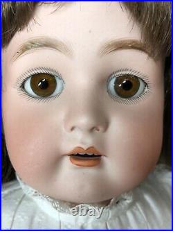 22 Antique German Simon & Halbig K Star R OM Beautiful Brunette Girl Pierced #L