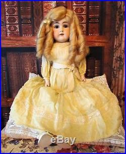 22 German Antique Doll Kestner Early Chunky Kid Leather body Mold 148 Original