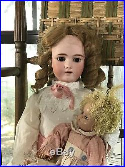 23 Antique German Bisque Head Doll S&H HH Beautful Body