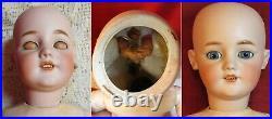 23 Antique German Doll Simon Halbig 1249 Santa sleep blue eyes antique dress
