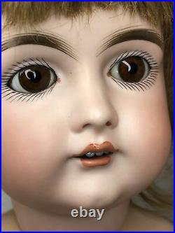 23 Antique German Kestner 152 H 12 Bisque Doll New Seeley BJ Body HH Wig #L
