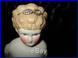 23 Antique Parian Doll With Seperately Attached Hair Decoration