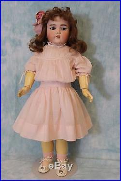 23 Simon Halbig German doll Heinrich Handwerck Orig. Antique Clothes Auburn Wig