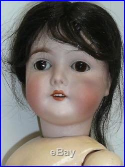 24 3/4 Antique Queen Louise, Brown Sleep Eyes, Nice BJ Body, 1 Chipped Tooth