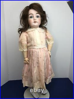 24.5 Antique Kestner Bisque Doll Germany 146 Blue Sleep Eyes Compo BJ Body #L