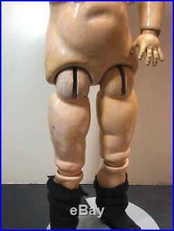 24 Antique CM Bergman Brown Sleep Eyes Ball jointed Body HH Wig Blonde Doll SC2