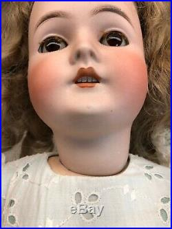 24 Antique Germany Bisque Queen Louise Blonde Wig WithBrown Sleep Eyes Jointed #S