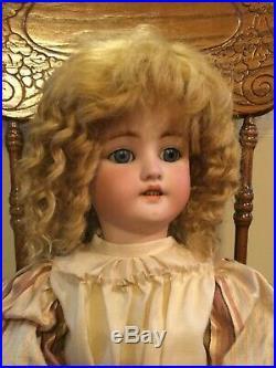24 C. M. BERGMANN SIMON & HALGIG #9 BISQUE HEAD/COMP. BODY DOLL Mohair Wig