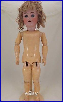 24 Doll Heinrich Hanwerck Simon & Halbig # 4 Original Mohair Wig Bj Compo Body