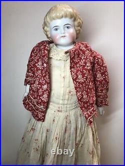 25 Antique German Alt Beck Gottschaulck 1000 China Head ABg TurnedHighland Mary