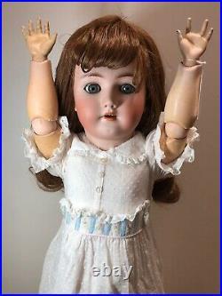 25 Antique German Bisque Doll Heinrich Handwerck S & H Beautiful Brunette #SC5