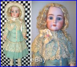 25 Antique German KR Simon Halbig Bisque Head Doll w Original Body FAB Clothes
