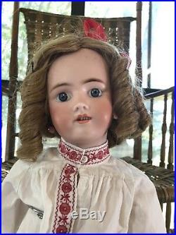 26 Antique German Bisque Head Doll All Antique