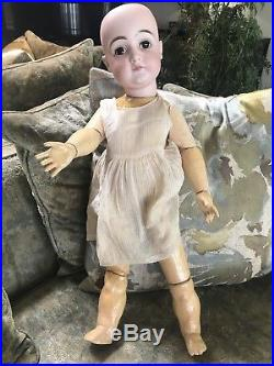 26 Inch Closed Mouth Bisque Head Kestner Doll