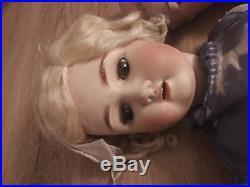 2 Antique Bisque Head German Dolls Parts Only