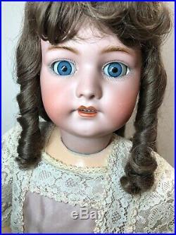 31 Antique German Simon & Halbig Bisque Doll 1078 Beautiful Brunette SL Eye#SC3