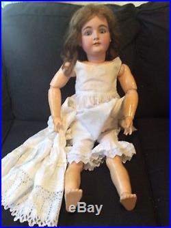 31 lg size. Antique bisque doll. Kestner 164. Excellent condition