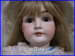 32 Antique German Kestner Bisque Doll 146 Pale Bisque Sleep Eyes -Hairlines