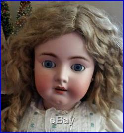 36 Simon Halbig all original antique doll. Mohair wig, sleep eyes, No damage