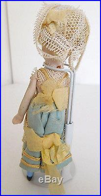 4.5 All Bisque Mignonette French Type Girl Simon Halbig on French Body All Orig