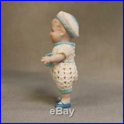5-Inch Antique Georgene Averill Bonnie Babe All Bisque Jointed Neck Darling
