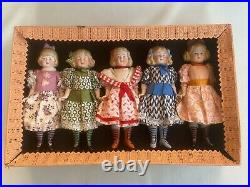 5 antique porcelain dolls in the O. K A. W. Kister Limbach
