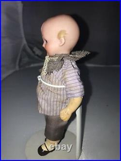 6 Antique German Bisque Head Googly Doll A M 324