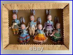 6 antique Porcelain Dolls in the Original Box Googlys Kestner